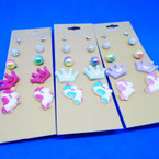 5 Pair Kid's Mermaid/Crown Theme Fashion Earring Set .50 per set