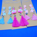3 Pair Kid's Fashion Earring Set w/ Tassel Earrings .50 per set