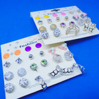 12 Pair Value Pack Earrings Gold/Silver .50 per set
