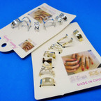 5 Pack Gold & Silver Fashion Adj. Rings NEW PACKING .54 per set