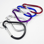 """4"""" Jumbo Asst Color Carabina Clip Keychains .50 each"""