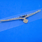 Classy Silver 2 Line Rhinestone Anklets .54 each