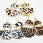 2 Part Animal Print Fashion Earrings .50 ea