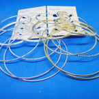 GREAT VALUE Earring Set 4 Pair Jumbo Gold & Silver Hoop Earrings .52 per set