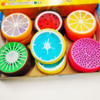 "3"" Round New Fruit Theme Crystal Putty 12 per box .50 each"
