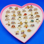 Mixed Style Adjustable Kid's Rings 36 per display box .19 each