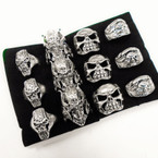 Cast Silver Men's Rings 4 styles per tray (#53)  .54 each