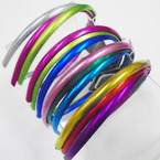 3 Pack Shiney Metallic Mixed Color Headbands  .54 per set