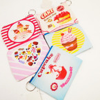"4"" Cupcake & Dessert Theme Zipper Coin Purse .50 each"