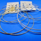 BEST VALUE Earring Set 4 Pair Jumbo Gold & Silver Hoop Earrings .52 per set