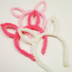 Fuzzy Wuzzy Fury Bunny Ear Headbands 3 colors  .56 each