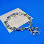 All Silver Tree of Life Charm Bracelets w/ Story Cards .54 each