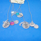 Under the Sea Theme Silver Charm Necklaces .54 each