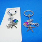 Under the Sea Theme Silver Keychains .56 each