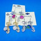 Under the Sea Theme Gold & Silver Charm Earrings  .54 each