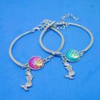 Silver Under the Sea Theme Mermaid Charm Bracelet .50 ea