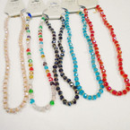"16-18"" 8MM Crystal Bead Necklaces w/ Gold/Sil Spacers  .58 each"