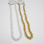 "16-18"" 8MM Crystal Bead Necklaces w/ Gold & AB .58 each"