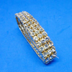 SPECIAL Gold Triple Row Rhinestone Stretch Tennis Bracelet 12 pk .60 ea