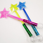 "21"" Flashing Multi Color Star Wand  sold by 3 pcs $ 2.50 each"