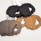 """3"""" Afro Women Head 3 color  Wood Earrings .52 each"""