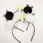Black & White Panda Pom Pom Headbands .56 each