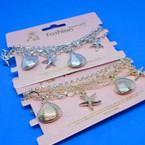 BEST BUY Gold/Silver Multi Chain Under the Sea Charm Bracelet .56 ea