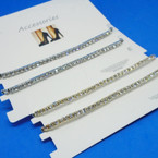 Best Quality 2 Pk Gold & Silver Stretch Rhinestone Anklets .56 ea set