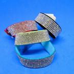 8 Line Crystal Stone Strap Snap Bracelets .54 each