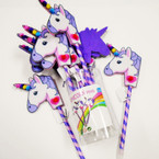 "Popular 9"" Unicorn Fashion Pens 12 per container .60 each"