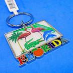 New Florida Metal Keychains Flamingo/Gator/Dolphin 12 per pk .54 ea