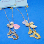 "20"" Gold & Silver Chain Under the Sea Charm Necklace  .56 ea"