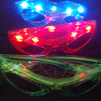 Spiderman Look Flashing Novelty Glasses 12 per box $ 1.00 each