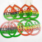 "3"" Rasta Color All Lives Matter Wood Earrings 2 Shapes mixed in dz  .52 each"