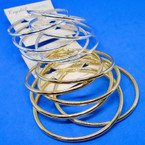 3 Pack Metal Gold & Silver Tube Style Fashion Hoop Earrings .52 per set