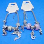 Under the Sea Theme Pandora Style Charm Silver Bracelets  .56 each