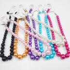 "16-18"" Graduated Glass Pearl Bead Necklace Sets  .54 each  set"
