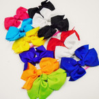 "BEST BUY 3 Pack 4"" Gator Clip Bows Mixed Colors .52 per set"