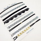 SPECIAL 4 Pack Fashion Choker Sets All Black  As Shown .58 per set