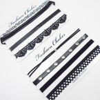 SPECIAL 4 Pk Fashion Choker Sets All Black  As Shown .58 per set