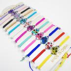 Colorful Sugar Skull Charm on Macrame Bracelet .54 ea