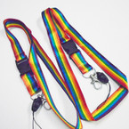 "36"" Rainbow Color Lanyard w/ Key & Phone Holder .52 each"