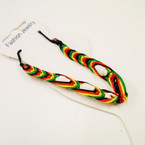 Rasta Color Cord Anklet w/ Shells .50 each