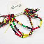 3 Pack Handmade Rasta Cord Bracelets .54 set
