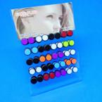20 Pair Fake Plug Earrings on Counter Display .33 per pair