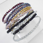Glitter Wrapped Crystal Stone Fashion Headbands .54 each
