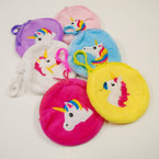 "3"" Embriodered Unicorn Theme Coin Purses w/ Clip .54 each"