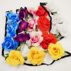 Popular Fashion Flower Fashion Headbands w/ Elastic Back (47) .54 each