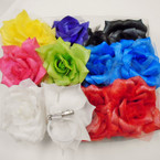 "4"" Asst Color 3 in 1 Use Imitation Flower Hair Bows .52 ea"