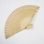 """8"""" Decorative Wood Hand Fan's 12 per pk .54 each"""
